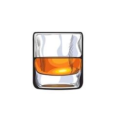 Scotch whiskey rum brandy shot glass vector image
