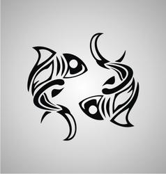 Tribal Pisces vector image