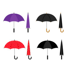 umbrellas colorful icons set vector image