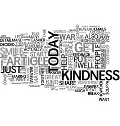 a little smile goes a long way text word cloud vector image