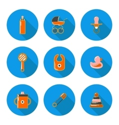 flat icons baby vector image