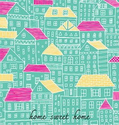 home sweet home sketch doodle pastel color vector image vector image