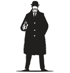 private detective vector image