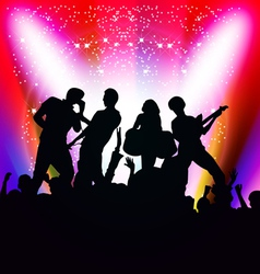 singing and dancing vector image vector image