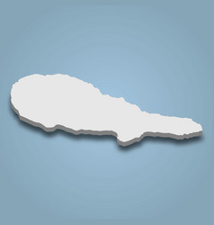 3d isometric map pico is an island in azores vector