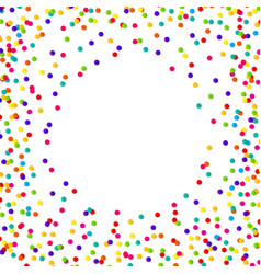 Abstract confetti background with polka dot vector
