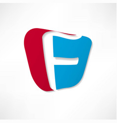 Abstract icon based on the letter f vector