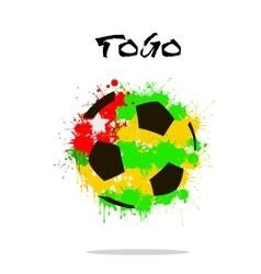 Abstract Soccer ball vector image