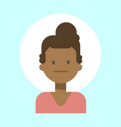 African american female neutral emotion profile vector