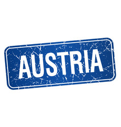 Austria blue stamp isolated on white background vector