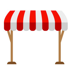 Awning on a white background on the racks vector