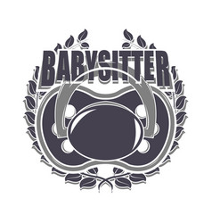 Babysitter creative design vector