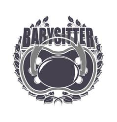 babysitter creative designe vector image