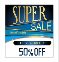 best quality super sale golden retro vintage label vector image