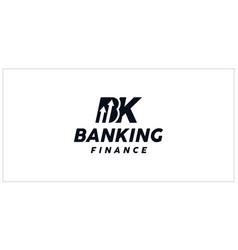 Bk banking finance logo vector