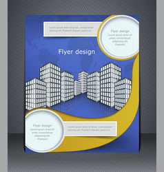 blue business flyer or brochure vector image