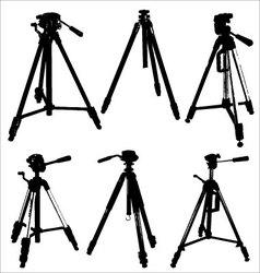 camera tripods vector image