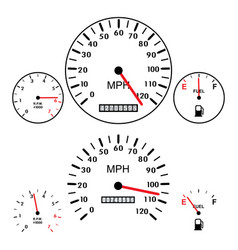 car dashboards with tachometer speedometer and vector image