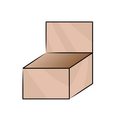 Cardboard box on white vector