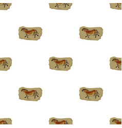 cave painting icon in cartoon style isolated on vector image vector image