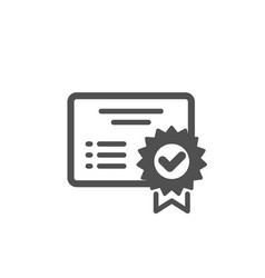 Certificate icon verified document sign vector