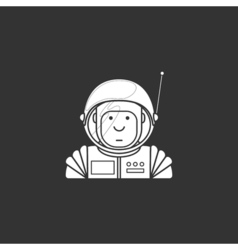 Contour icon cute astronaut in a suit and helmet vector