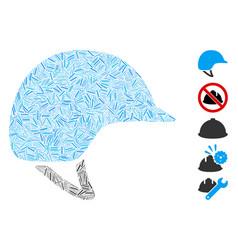 Dash collage motorcycle helmet vector