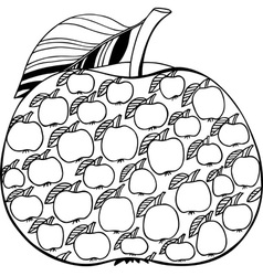 Decorative apple vector image