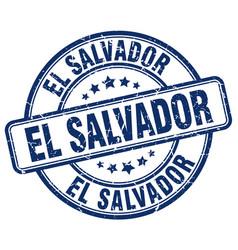 El salvador blue grunge round vintage rubber stamp vector