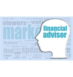 financial advisor financial advisor head vector image
