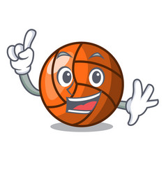 Finger volleyball mascot cartoon style vector