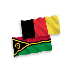 Flags of belgium and republic of vanuatu vector