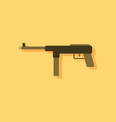 Flat icon design collection military machine gun vector
