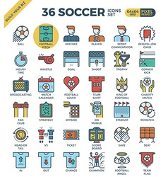 Football Soccer Icons vector image