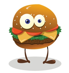 funny sandwich vector image