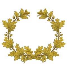 Gold Oak Wreaths vector