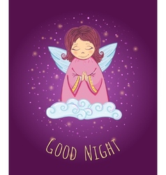 Good Night Angel vector image