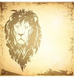Grunge Lion Vintage Background vector