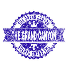Grunge textured the grand canyon stamp seal with vector