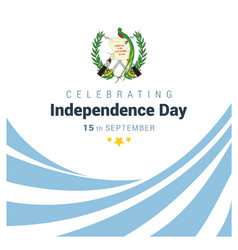 Guatemala indpendence day design vector