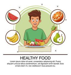 Healthy food concept vector