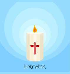 Holy week banner with a paschal candle vector