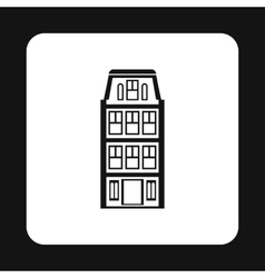 House icon in simple style vector