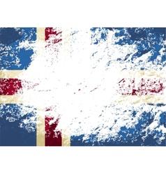 Icelandic flag Grunge background vector image vector image