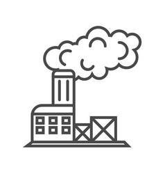 industrial factory building linear icon vector image