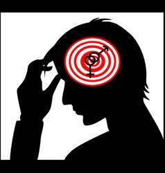 interlocked gender sign in human head vector image