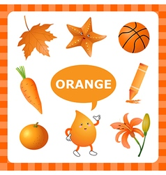 Learning Orange color vector