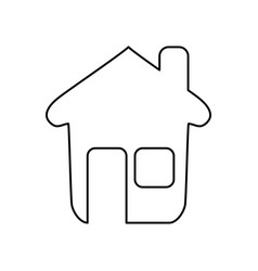 line nice house with window and door vector image