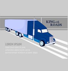 logistic banner template truck symbol logistics vector image