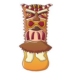 Mayan idol icon cartoon style vector